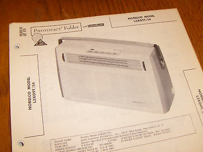 Norelco model L3X09T/54 Photofact Folder,transistor radio