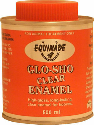 Equinade Glo Sho CLEAR Enamel long lasting for horse show competition FREE POST