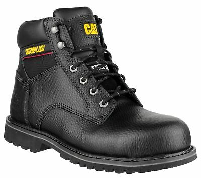 Caterpillar CAT Electric 6 black grain leather SB safety boot size 6-12