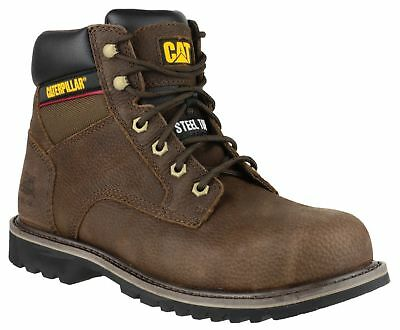 Caterpillar CAT Electric Hi brown grain leather SB safety boot size 6-12