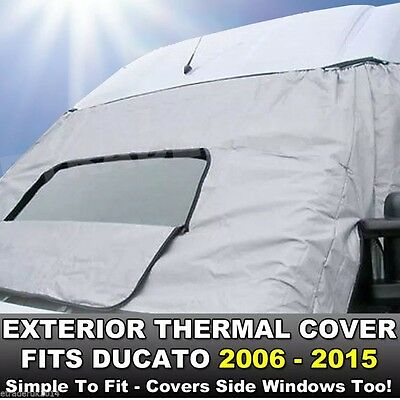 FIAT DUCATO 06-19 Motorhome Exterior External Window Thermal Blinds Screen Cover