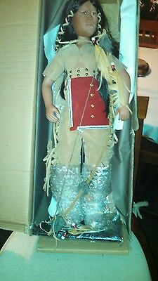 """Timeless Collection Angel Star Indian Doll Limited Ed, Porcelain NIB 30"""" #72194H"""