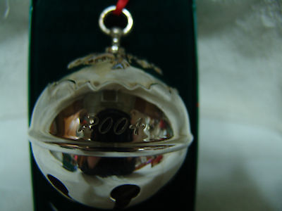 REED & BARTON 2004 SILVERPLATED HOLLY BELL NEW IN BOX FREE SHIPPING