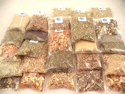 20 Herb Kit Metaphysical, Wicca, Pagan, Culinary, Tea, Ritual (half oz. each)