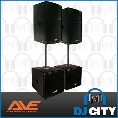 "15"" AVE Ultra Speaker Combo - Public Address Active Speaker system - DJ City"