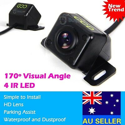 4 IR LED Night Vision HD Car Rear View Reversing Reverse Camera 170° Waterproof