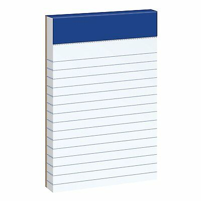 """Ampad 20-208 Evidence 3"""" x 5"""" Narrow Perforated Writing Pads - White NEW AOI"""