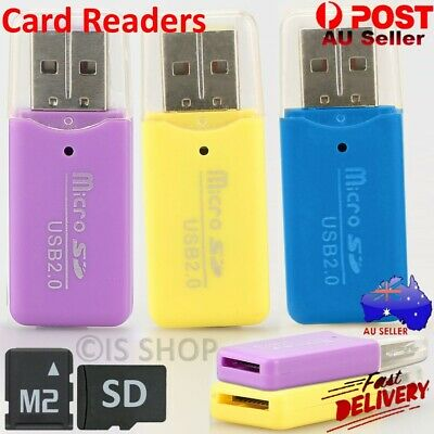 Micro SD Card Reader SDHC TF M2 T Flash To USB 2.0 Mini Adapter For Laptop PC