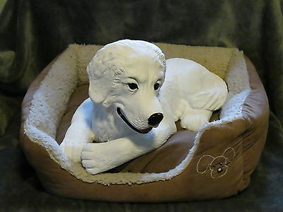 Great Pyrenees Puppy Basket / Bed Buddy Decorative Life Like Puppy Statue