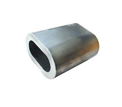 Aluminium Wire Rope Ferrules Pack of 10 2mm 3mm 4mm 5mm 6mm  8mm 12mm