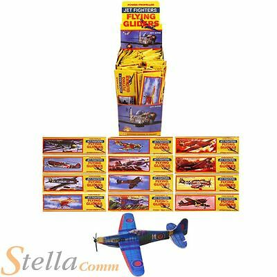 12 x WWII Flying Planes Gliders Party Bag Fillers Toys Aeroplane Spitfire etc