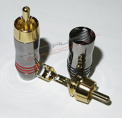2x Connettore RCA placcato oro 24k   -  qualità OTTIMA  plug connector audiophie