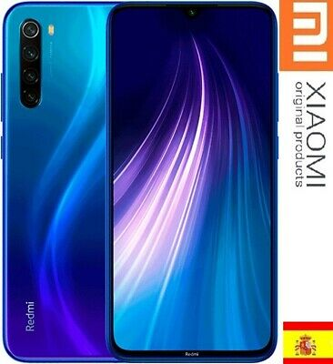 XiaoMI REDMI NOTE 8,4GB+64GB,ESPAÑA VERSION,AZUL CAMARA 48MpX,Snapdragon 665