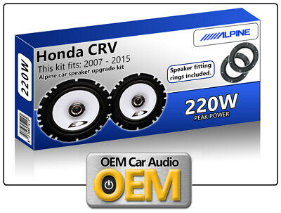 "Honda CRV Front Door speakers Alpine 17cm 6.5"" car speaker kit 220W Max Power"