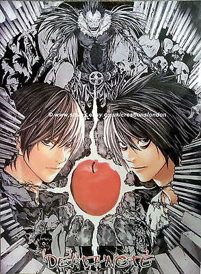 "A2 25"" x 16""  Laminated Death Note Light & L Poster (DNLP6)"