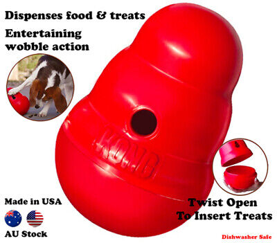 KONG Wobbler Treat Food Dispensing interactive Best Boredom Dog Toy Small Large