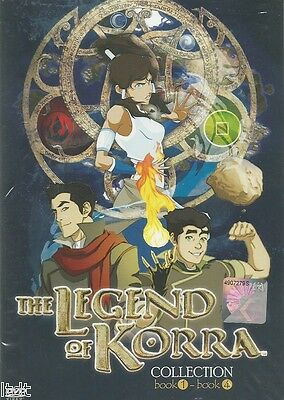 Avatar The Legend Of Korra (Book 1 - 4) DVD + Free Gift