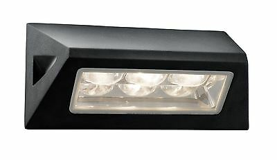 Black 3 LED Outdoor Wall Light Fixture