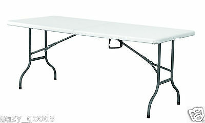 Super Strong 6' Foot 180Cm Folding Table Catering Camping Trestle Market Bbq