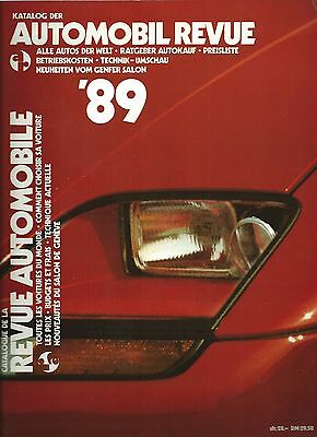 Automobil Revue Automobile 1989 • Catalogue Number • LIKE NEW