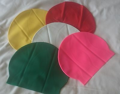 Latex Swimming Cap,Universal Size . UK Supplier. 1st Class postage. 9 Colours