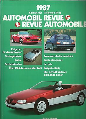 Automobil Revue Automobile 1987 • Catalogue Number • LIKE NEW