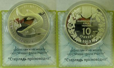 "Ukraine - 10 Grivna coin 2012 ""The Sterlet"" SILVER PROOF"