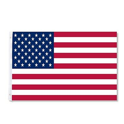 3x5FT USA US U.S. American Flag Sewn Stripes Stars Brass Grommets For Flagpole