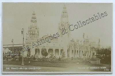 1908 Rp Pu Postcard Palace Of Women's Work Franco-British Exhibition London D64