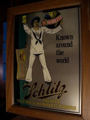 Schlitz Beer Sailor mirror