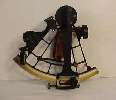 VERY RARE ANTIQUE SEXTANT in CASE--HUGHES & SON, LONDON, 1919--NAT'L PHYS. LAB