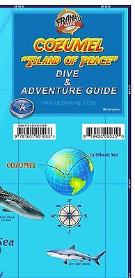 Cozumel Mexico Dive Snorkel Adventure Guide Map Waterproof Map by Franko Maps