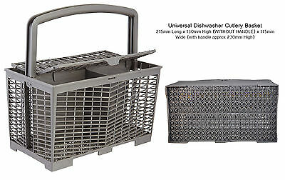Universal Dishwasher Cutlery Basket: 215mm Long x 230mm High x 115mm Wide