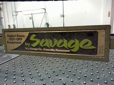 "SAVAGE Model RS1020 12'x 6"" Capacity Non-Ferrous (Aluminum)  Automatic Plate Saw"