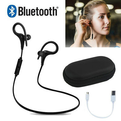Wireless Bluetooth Headset Sport Earphone Stereo Headphone for Samsung iPhone LG