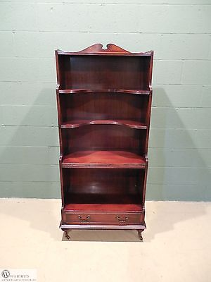 HEKMAN Furniture Vintage Solid Mahogany 1 Drawer Book Case with Leather Pull Out