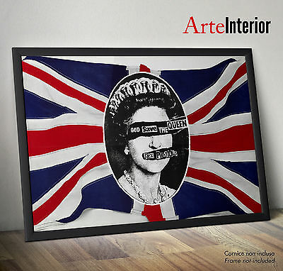 SEX PISTOLS God Save The Queen - WALL POSTER - Stampa FINE ART Alta Risoluzione