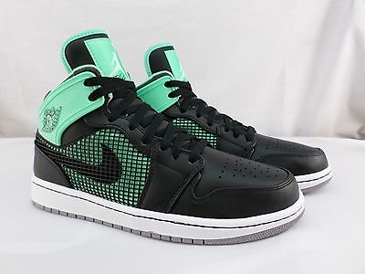 Nike AIR JORDAN 1 RETRO 89 BLACK/  GREEN  Mens Basketball Shoes 599873 033