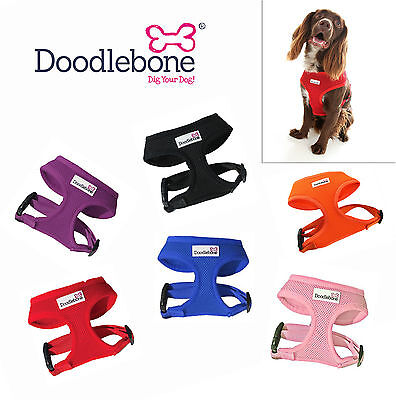 Doodlebone Padded Soft Air Mesh Vest Dog Harness - All Colours/Sizes