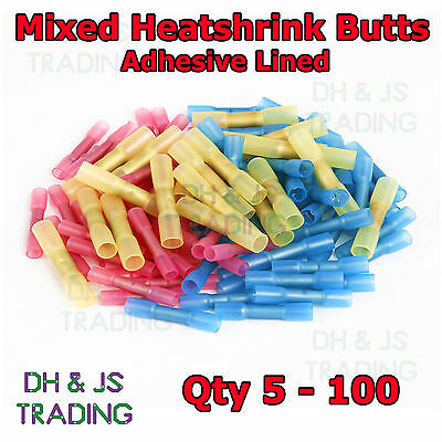 Mixed Heat Shrink Butt Connectors Electrical Terminals Heatshrink Connector