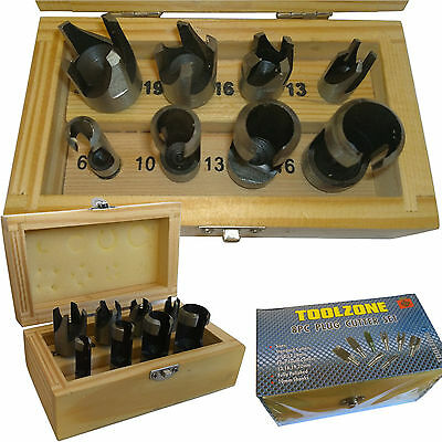 Plug Cutter/ Wood Dowel maker 8 Bit set. Standard & Four-Tooth type