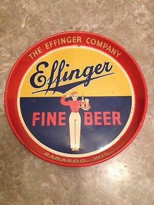 Effinger Fine Beer , The Effinger Company Baraboo WI   Beer Tray   L@@K!