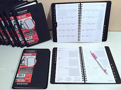 "2015 AT-A-GLANCE® Daily/Weekly/Monthly Planner/Organizer/BLACK/8""x 4 7/8"""