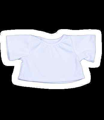 "T-Shirt White 16""(40cm ) by Teddy Mountain will fit Build a Bear"
