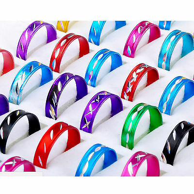 High 100X Fashion Wholesale Jewelry lots Bulk Mixed Coloured Style Aluminum Ring