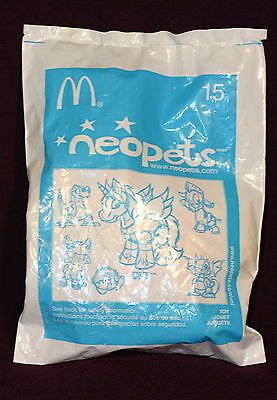 ORIGINAL 2004 NEOPETS #15 - McDONALDS HAPPY MEAL PLUSHIE TOY NEW IN PACKAGE