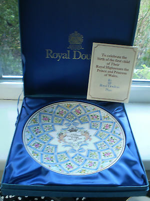 Royal Doulton Prince William Birth Plate Limited Edition Boxed Royal Birth 1982