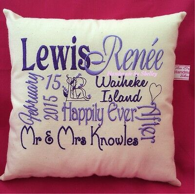 Unique WEDDING gift YOUR OWN Handmade PERSONALISED cushion/cover