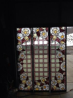 Antique Six-Foot Stained-Glass Skylight