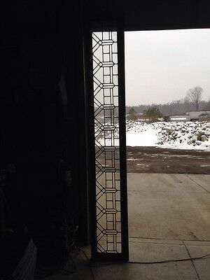 Sg 1312 Extra Long Antique Transom Stainglass Window